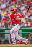 27 July 2013: Washington Nationals outfielder Jayson Werth in action against the New York Mets at Nationals Park in Washington, DC. The Nationals defeated the Mets 4-1. Mandatory Credit: Ed Wolfstein Photo *** RAW (NEF) Image File Available ***