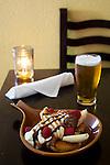 "Spintz Alehouse in NE Portland, Oregon. Pictured is the weekly ""Dirty Pretzel"" - a hot fudge sundae"