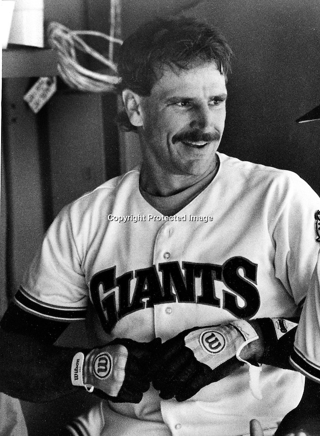 San Francisco Giants catcher Bob Brenly .(1984 photo by Ron Riesterer)