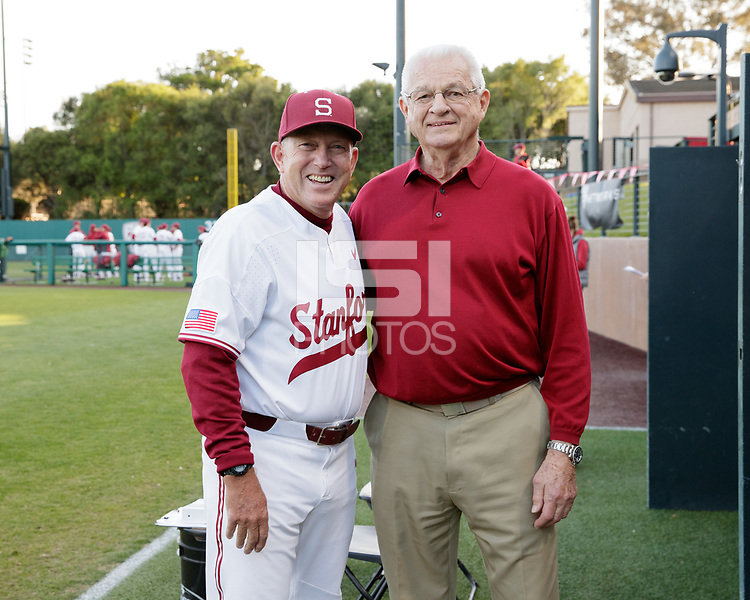 Stanford, CA - April 14, 2017:  Stanford wins 5-3 over UCLA at Sunken Diamond.