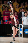 14 APR 2012: Maria Paula Vilas (05) of University of Maryland Eastern Shore bowls  during the Division I Womens Bowling Championship against Fairleigh Dickson University held at Freeway Lanes in Wickliffe, OH.  The University of Maryland Eastern Shore defeated Fairleigh Dickinson 4-2 to win the national title.  Jason Miller/NCAA Photos