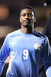 01 November 2012: UNC's Jordan McCrary. The University of North Carolina Tar Heels played the Boston College Eagles at Fetzer Field in Chapel Hill, North Carolina in a 2012 NCAA Division I Men's Soccer game. UNC defeated Boston College 4-0.