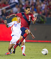 Carson, Ca-Friday Sept. 2, 2011: USA's Edgar Castillo runs with the ball during a 1-0 loss to Costa Rica at the Home Depot Center.