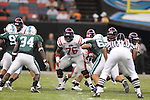 Ole Miss offensive lineman A.J. Hawkins (76) at the Louisiana Superdome in New Orleans, La. on Saturday, September 11, 2010. Ole Miss won 27-13.