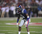 Ole Miss' Wesley Pendleton (6) vs. Alabama at Vaught-Hemingway Stadium in Oxford, Miss. on Saturday, October 14, 2011. Alabama won 52-7.