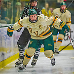 16 November 2013: University of Vermont Catamount Forward H.T. Lenz, a Senior from Vienna, VA, in action against the Providence College Friars at Gutterson Fieldhouse in Burlington, Vermont. The Friars shut out the Catamounts to sweep the 2-game weekend Hockey East Series. Mandatory Credit: Ed Wolfstein Photo *** RAW (NEF) Image File Available ***
