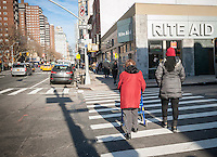 A store in the Rite Aid drugstore chain in the Chelsea neighborhood of New York City is seen on Monday, December 19, 2016. While Rite Aid and Walgreens Boots Alliance await government approval for the acquisition of Rite Aid the drug store chain is set to report earnings on December 20. (© Richard B. Levine)