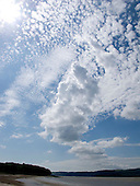 Cirrocumulus clouds over the Arnside, Lancashire, UK.