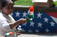 A woman arrives to a meeting for the annual Indian independence day parade in New Jersey,  August 11, 2013. Photo by Eduardo Munoz Alvarez / VIEWpress.