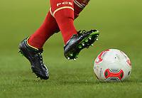 FUSSBALL   1. BUNDESLIGA  SAISON 2012/2013   19. Spieltag   VfB Stuttgart  - FC Bayern Muenchen      27.01.2013 Mario Gomez (FC Bayern Muenchen) am Ball mit neuen Schuhen der Marke Nike