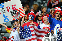 Fans of team USA during the FIFA Women's World Cup at the FIFA Stadium in Moenchengladbach, Germany on July 13th, 2011.