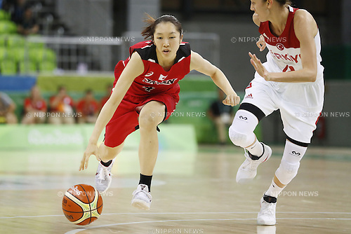 Kaede Kondo (JPN), AUGUST 9, 2016 - Basketball : <br /> Women's Preliminary Round <br /> between Japan 62-76 Turkey <br /> at Youth Arena <br /> during the Rio 2016 Olympic Games in Rio de Janeiro, Brazil. <br /> (Photo by Yusuke Nakanishi/AFLO SPORT)