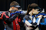 COLUMBUS, OH - MARCH 11:  Buchanan, of The Ohio State University, competes during the Division I Rifle Championships held at The French Field House on the Ohio State University campus on March 11, 2017 in Columbus, Ohio. (Photo by Jay LaPrete/NCAA Photos via Getty Images)