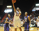 "Ole Miss's Nikki Byrd (22) vs. LSU's Taylor Turnbow (22) on Sunday, January 17, 2010 at the C.M. ""Tad"" Smith Coliseum in Oxford, Miss. Ole Miss won 80-71."