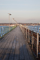 Pier in Hythe in Southampton, England, UK
