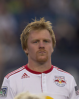 New York Red Bulls midfielder Dax McCarty (11). In a Major League Soccer (MLS) match, the New England Revolution tied New York Red Bulls, 2-2, at Gillette Stadium on August 20, 2011.
