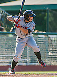1 September 2014: Tri-City ValleyCats infielder Nick Tanielu in action against the Vermont Lake Monsters at Centennial Field in Burlington, Vermont. The ValleyCats defeated the Lake Monsters 3-2 in NY Penn League play. Mandatory Credit: Ed Wolfstein Photo *** RAW Image File Available ****