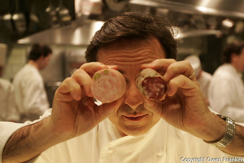 Daniel Boulud in his kitchen in New York, Restaurant Daniel