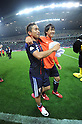 (L-R) Yuto Nagatomo, Shinji Okazaki (JPN),.JUNE 3, 2012 - Football / Soccer :.Yuto Nagatomo and Shinji Okazaki of Japan celebrate after the 2014 FIFA World Cup Asian Qualifiers Final round Group B match between Japan 3-0 Oman at Saitama Stadium 2002 in Saitama, Japan. (Photo by Takahisa Hirano/AFLO)