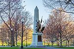 The Boston Massacre Monument on Boston Common, Boston, Massachusetts, USA