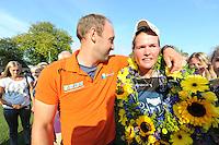 KAATSEN: WEIDUM: 19-08-2015, Ilse Tuinenga, Sjoukje Visser en Manon Scheepstra winnen de Dames PC, ©foto Martin de Jong