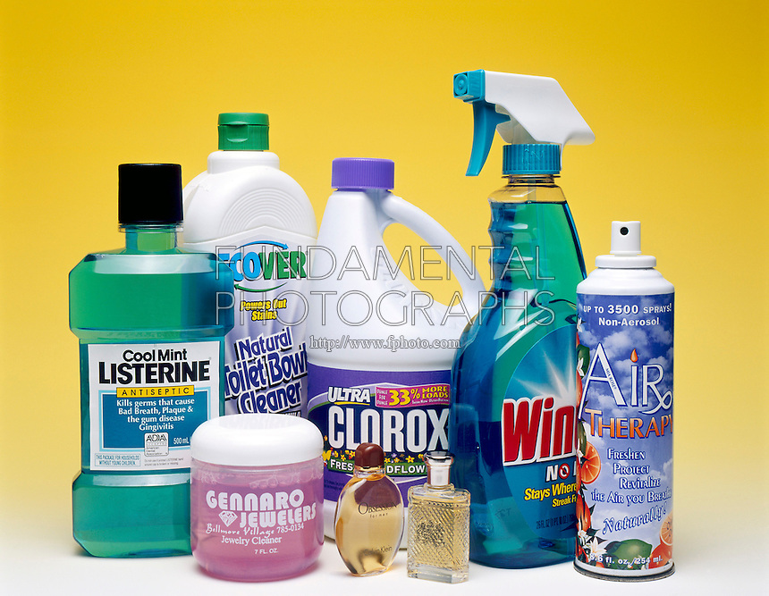 COMMON HOUSEHOLD SOLUTIONS<br /> Commercial Products That Are Solutions<br /> Mouthwash, jewelry cleaner, toilet bowl cleaner, perfumes, bleach, window cleaner and air freshener.