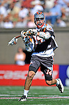 23 August 2008: Denver Outlaws' Midfielder Drew Westervelt in action against the Los Angeles Riptide during the Semi-Finals of the Major League Lacrosse Championship Weekend at Harvard Stadium in Boston, MA. The Outlaws edged out the Riptide 13-12, advancing to the upcoming Championship Game.. .Mandatory Photo Credit: Ed Wolfstein Photo