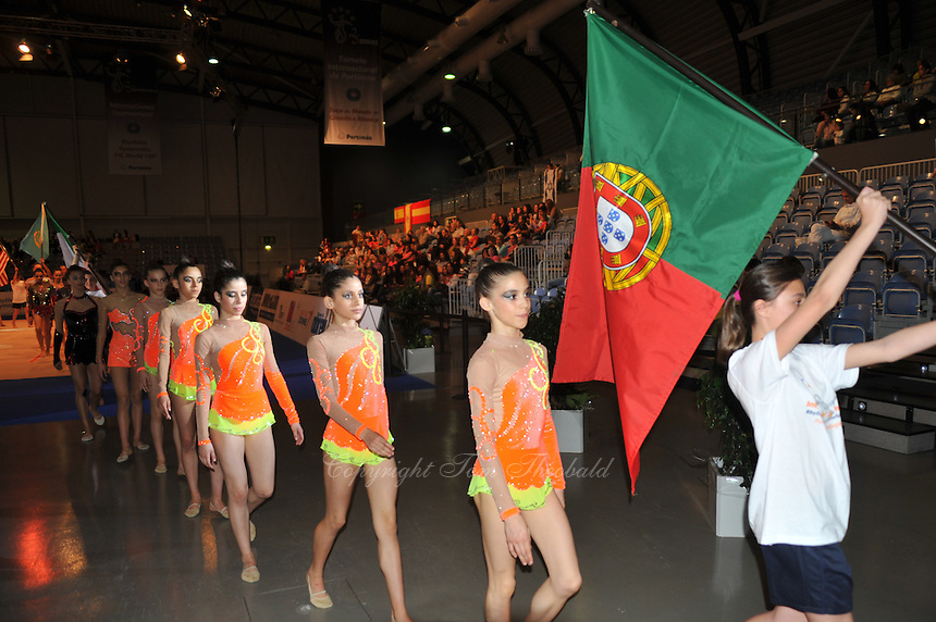 Team Portugal marches out during opening ceremony at 2011 World Cup at Portimao, Portugal on April 28, 2011.  .