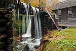 Mingus Mill in autumn color, Great Smoky Mountains National Park