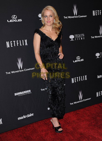 Gillian Anderson attends THE WEINSTEIN COMPANY &amp; NETFLIX 2014 GOLDEN GLOBES AFTER-PARTY held at The Beverly Hilton Hotel in Beverly Hills, California on January 12,2014                                                                               <br /> CAP/DVS<br /> &copy;DVS/Capital Pictures