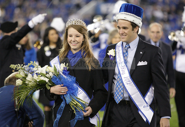 Homecoming king, Stephen Bilas and queen Katelyn Brown during the UK v. Georgia Homecoming game in Lexington, Ky., on Saturday, October 20, 2012. Photo by Genevieve Adams | Staff