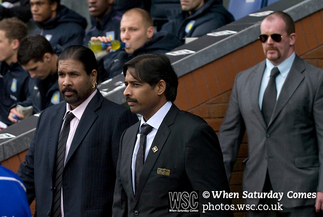 New Blackburn Rovers owners Balaji and Venkatesh Rao (right) at Ewood Park before the club played host to Aston Villa in a Barclays Premier League match. Blackburn won the match by two goals to nil watched by a crowd of 21,848. It was Rovers' first match under the ownership of Indian company Venky's.