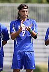 04 September 2011: SMU's Diogo de Almeida (BRA). The Southern Methodist University Mustangs defeated the Duke University Blue Devils 1-0 in overtime at Koskinen Stadium in Durham, North Carolina in an NCAA Division I Men's Soccer game.