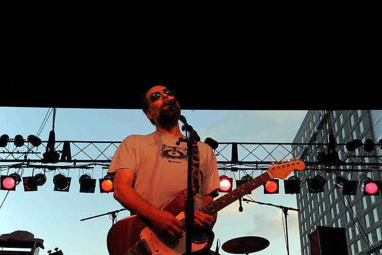 SEPTEMBER 7, 2012: Built to Spill at City Plaza. Night two, Hopscotch 2012. (photo by Kim Walker, kimwalkerphoto.com)