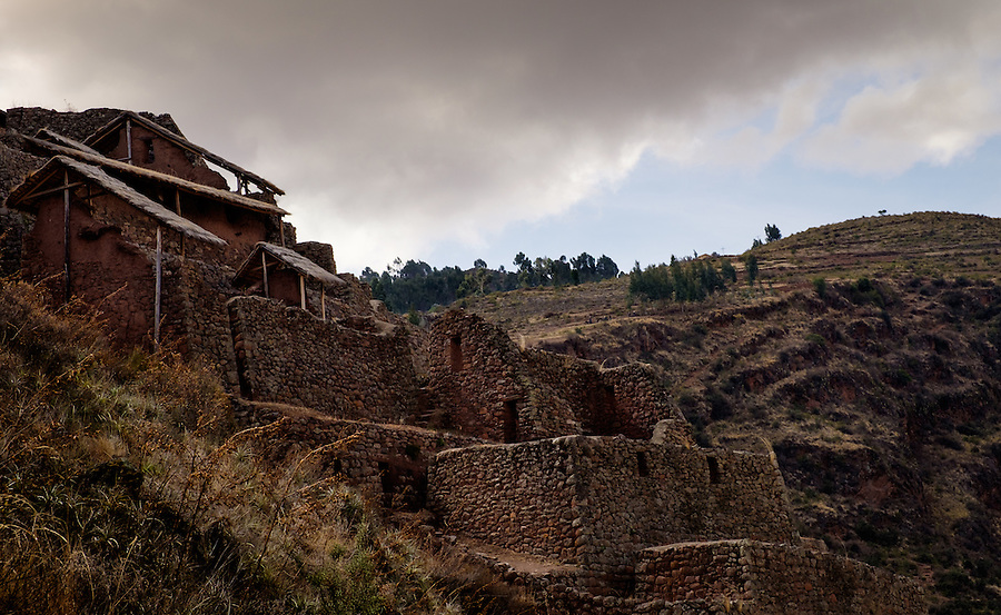 PISAC, PERU - CIRCA OCTOBER 2015:  The PIsac arqueological site, on the Cusco region known as Sacred Valley
