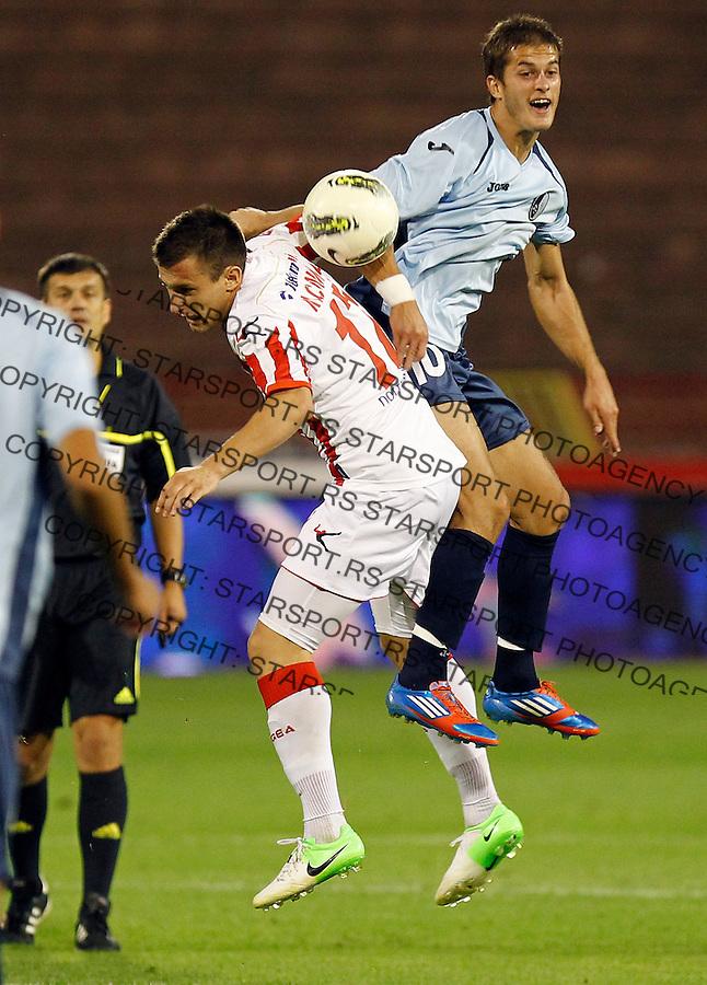 Fudbal, Jelen super liga, season 2012/2013.Rad Vs. Partizan.Goran Causic right and Filip Kasalica.Beograd, 19.08.2012..Srdjan Stevanovic/Starsportphoto ©