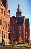 Old Mill, UVM Green, UVM Campus, Fall
