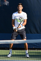 FLUSHING NY- AUGUST 28: Novak Djokovic on the practice court at the USTA Billie Jean King National Tennis Center on August 28, 2016 in Flushing Queens. Photo by MPI04 / MediaPunch