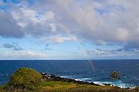 Rainbow off the coast of Hana, Maui.
