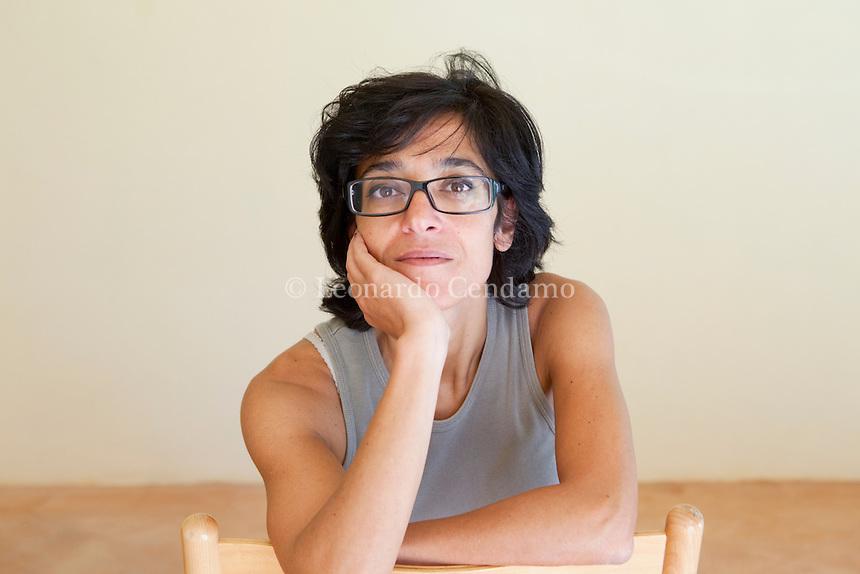 Michela Marzano, writer, filosofa, lives in Paris and Roma, Mantova 2010;  © Leonardo Cendamo