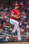 22 August 2015: Washington Nationals pitcher Matt Thornton on the mound in the 9th inning against the Milwaukee Brewers at Nationals Park in Washington, DC. The Nationals defeated the Brewers 6-1 in the second game of their 3-game weekend series. Mandatory Credit: Ed Wolfstein Photo *** RAW (NEF) Image File Available ***