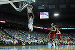 21 December 2013: North Carolina's James Michael McAdoo (43). The University of North Carolina Tar Heels played the Davidson College Wildcats at the Dean E. Smith Center in Chapel Hill, North Carolina in a 2013-14 NCAA Division I Men's Basketball game. UNC won the game 97-85 in overtime.