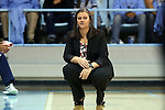 02 January 2015: ETSU head coach Brittney Ezell. The University of North Carolina Tar Heels hosted the East Tennessee State University Buccaneers at Carmichael Arena in Chapel Hill, North Carolina in a 2014-15 NCAA Division I Women's Basketball game. UNC won the game 95-62.