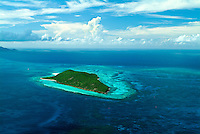 Aerial View of Buck Island National Monument.St Croix.US Virgin Islands