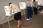Voters cast their ballots at First Baptist Church Of Los Altos on Magdalena Avenue.