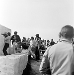 The Beatles 1967 John Lennon and George Harrison filming Magical Mystery Tour at Newquay, Cornwall...© Chris Walter ..