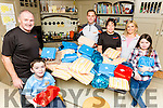 Seamus, Holly, Ruairi and Adah MacEntee and Joe and Tina O'Connor with the parcels they are taking to Tanzania for the Tir na nOg charity