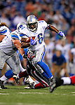 3 September 2009:  Detroit Lions' running back Aveion Cason rushes for first down yardage during a pre-season game against the Buffalo Bills at Ralph Wilson Stadium in Orchard Park, New York. The Lions defeated the Bills 17-6...Mandatory Photo Credit: Ed Wolfstein Photo