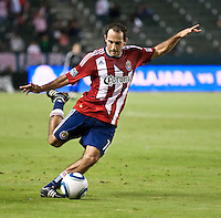 CARSON, CA – June 18, 2011: Chivas USA midfielder Nick LaBrocca (10) during the match between Chivas USA and FC Dallas at the Home Depot Center in Carson, California. Final score Chivas USA 1, FC Dallas 2.