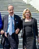 United States Representatives Eliot Engel (Democrat of New York), left, and Carolyn Maloney (Democrat of New York), right, arrive to join other Democratic members of the US House of Representatives and US Senate as they assemble on the East Steps of the US Capitol to call on Republican leadership in both legislative bodies to schedule votes on funding to combat the Zika Virus, to prohibit people on the federal &quot;no fly&quot; list from purchasing guns, and to conduct confirmation hearings and schedule a vote on the confirmation of Judge Merrick Garland as Associate Justice of the US Supreme Court in Washington, DC on Thursday, September 8, 2016.<br /> Credit: Ron Sachs / CNP /MediaPunch